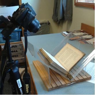 Scanning rig set up with camera