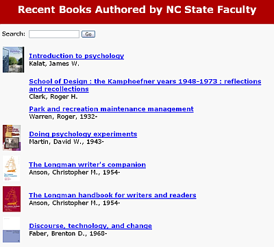 New Faculty Books list