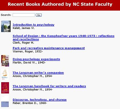 New Faculty Books list
