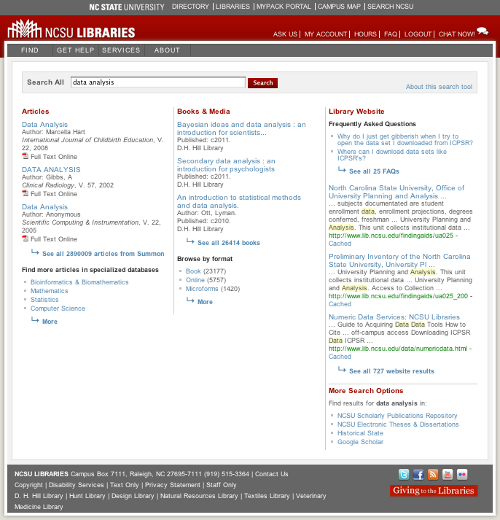 Post-redesign QuickSearch