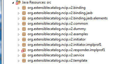 Figure 2. Create these packages within the NCIPCore project