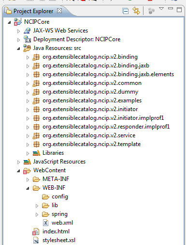 Figure 3. The NCIPCore project setup in Eclipse