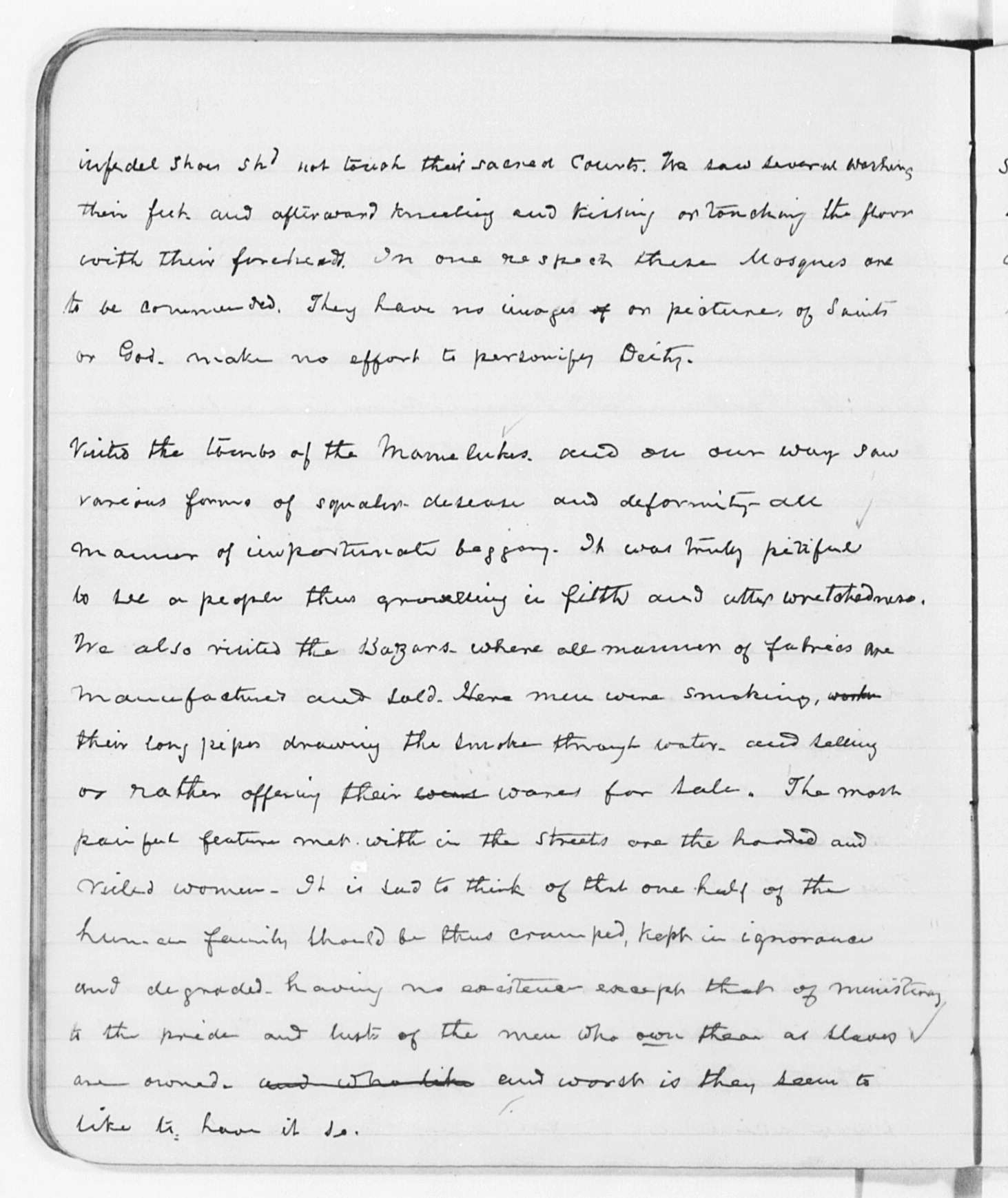 Figure 6. Fully transcribed and proofread text from page 42 of Frederick Douglass'diary.