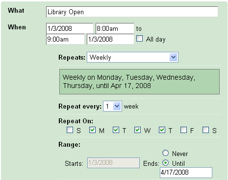The Code4Lib Journal – Using Google Calendar to Manage Library