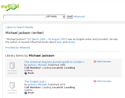 Wikipedia information about Jackson, Michael, 1942-