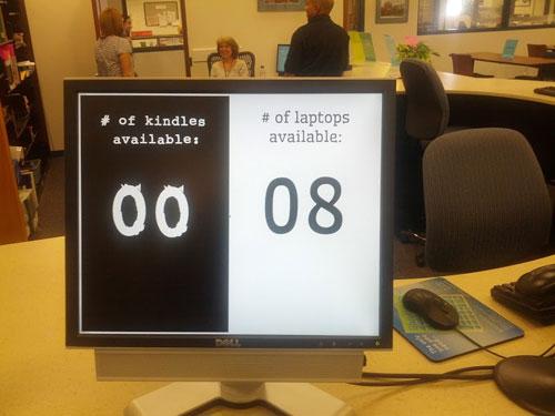 Figure 3. Kindle Counter Display