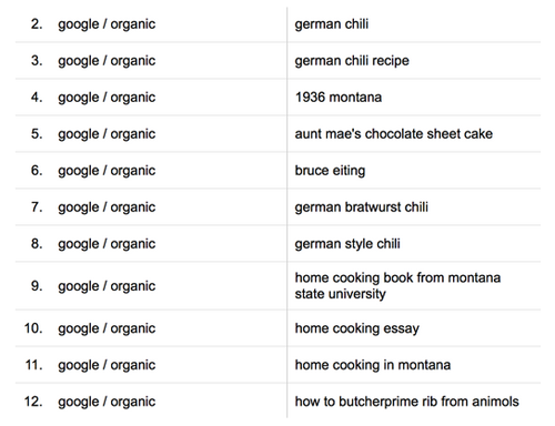 User-generated search queries