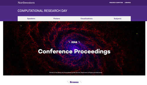 Screenshot of conference website, available at: http://crd.northwestern.edu/