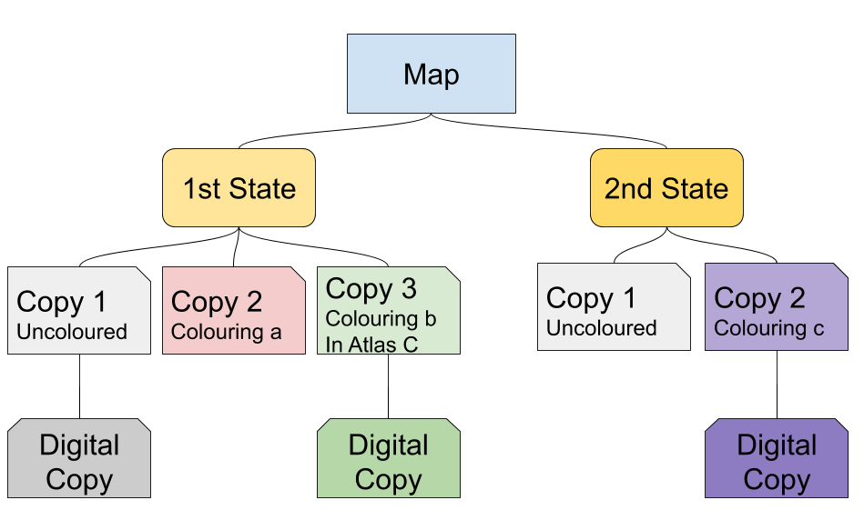 Figure 5. A map and its possible versions