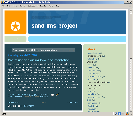 Screenshot of blog showing video discussion