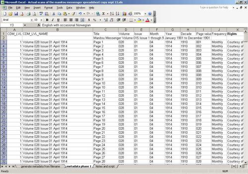 Resulting Metadata