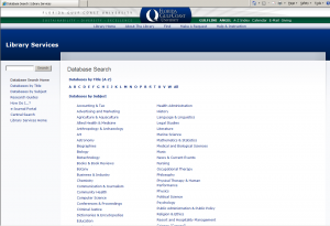 New database page using Drupal, 2010