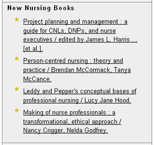 Figure 5. New Books Pluslet