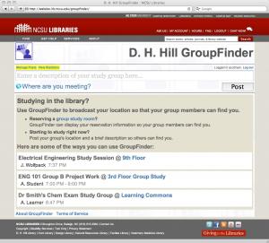 Figure 1. GroupFinder Main Interface