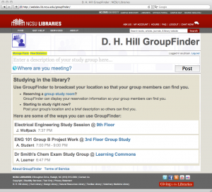 Figure 5. Viewing a post on the main GroupFinder web site