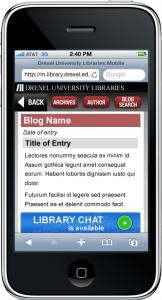 Finalized design mockups for mobile-optimized Blogs
