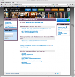 Figure 11: Drupal theme shown to patrons and anonymous users on the live website