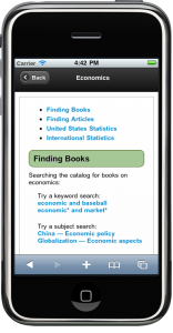 Mobile-optimized WordPress research guide homepage and single guide