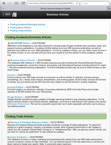 Tablet-optimized WordPress research guide homepage and single guide