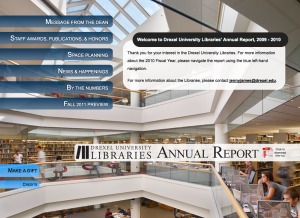 Figure 26: Full browser version of Annual Report homepage