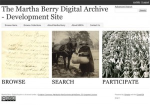 Screen Capture of (in-progress) MBDA Development Site Home Page (marthaberry.org)